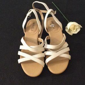 Vaneli Ankle Strap Flat Sandal Size 6.5